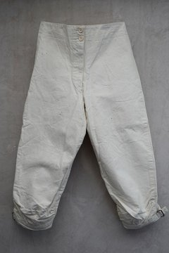 cir.1920's-1930's white cotton fencing trousers