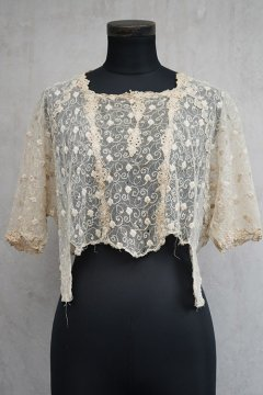 1910's-1920's cream lace top