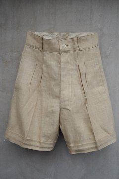 cir. 1930's linen shorts dead stock