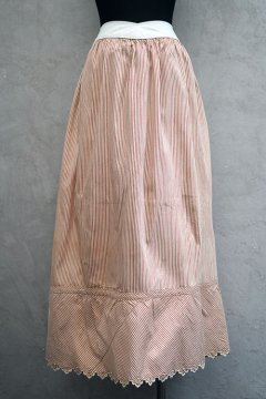 ~early 20th c. linen cotton striped long skirt