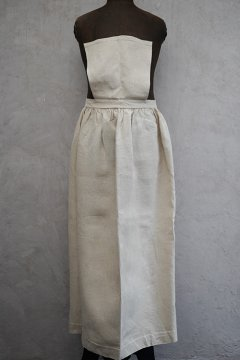 early 20th c. dead stock linen apron