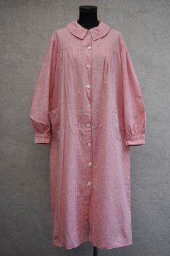 1930's red chambray work dress / coat
