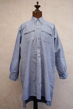 cir.1930's-1940's blue cotton button down shirt