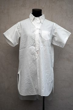 cir.1930's white striped S/SL shirt