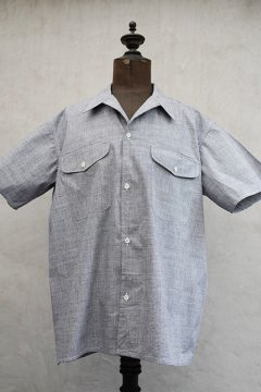 1940's-1950's houndstooth S/SL shirt dead stock