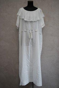 arly 20th c. white linen S/SL dress