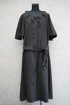 1930's-1950's black dots dress
