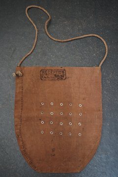 WWI brown linenfeed bag