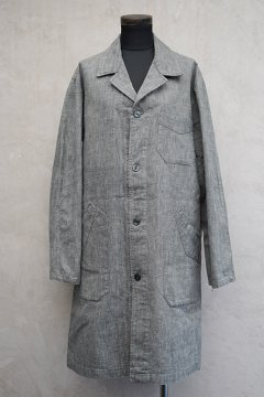 ~1940's linen × cotton salt&pepper atelier coat