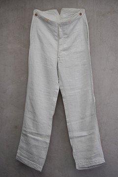 ~1930's herringbone linen trousers