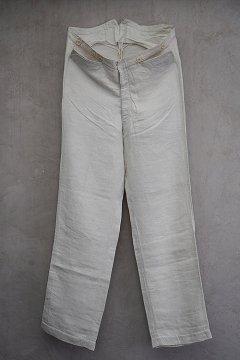 early 20th c. herringbone linen trousers
