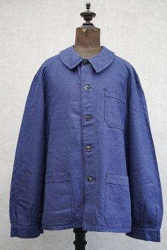 1940's blue cotton twill work jacket dead stock
