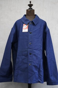 mid 20th c. blue moleskin work jacket 60 dead stock