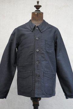 1930's black moleskin work jacket dead stock