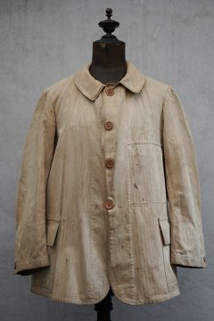 cir.1920's beige herringbone work jacket