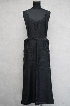 1930's-1940's black cotton apron dead stock
