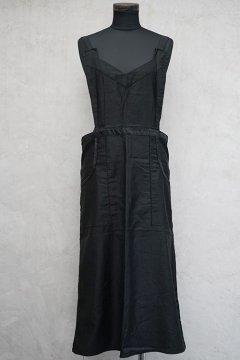 1930's-1940's black cotton apron dead stock