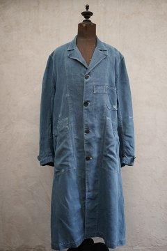 ~1930's indigo linen maquignon coat
