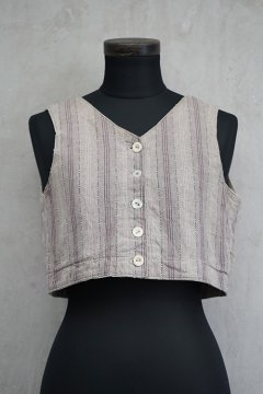 ~early 20th c. purple striped N/SL top