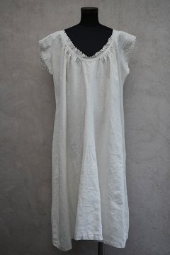 early 20th c. linen dress S/SL