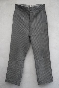 cir.1930's striped cotton work trousers