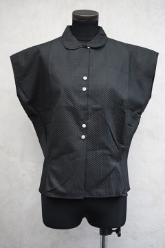 cir.1950's black dots blouse dead stock