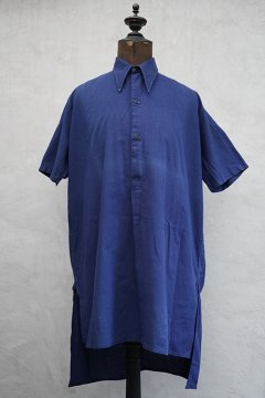 1930-1940's blue S/SL shirt