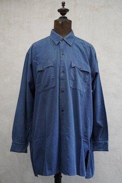 ~1940's blue cotton work shirt