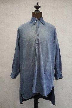 1930's blue linen work shirt