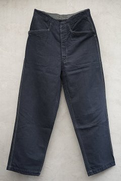 cir. 1940's-1950's black maquignon work trousers