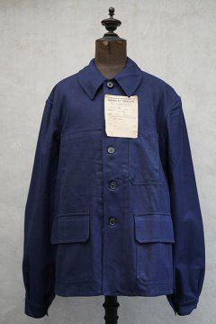 cir. 1940's. blue cotton work jacket