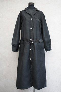 1930's-1940's black work coat dead stock