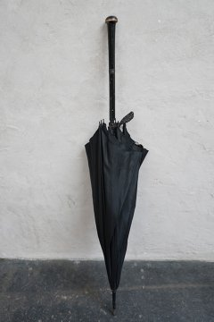 19th c. black silk umbrella