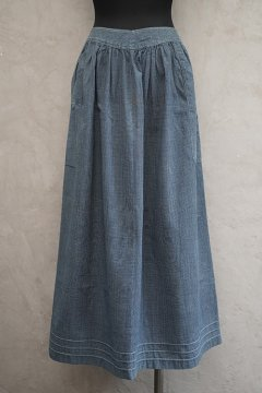 ~early 20th c. indigo check apron