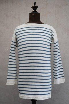 ~early 20th c. indigo striped cotton top
