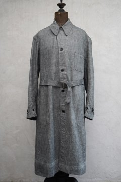 1940's -1950's linen × cotton atelier coat