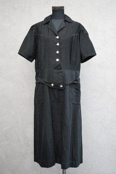 cir.1930's black S/SL dress
