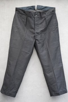 1930's-1940's striped moleskin work trousers dead stock