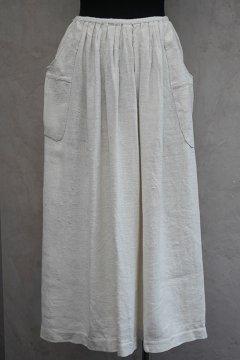 early 20th c. ecru linen apron