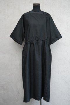 1930's dead stock black S/SL dress/apron