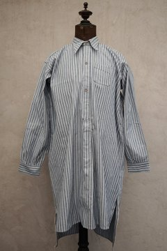 1930's blue striped shirt with pocket dead stock