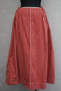 late 19th -early 20th c. red striped skirt