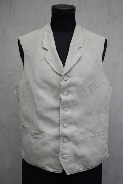 early 20th c. linen gilet