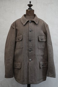 mid 20th c. brown salt&pepper cotton hunting jacket