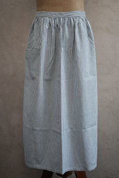 ~1930's indigo striped apron