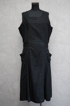 cir. 1930's black N/SL work dress
