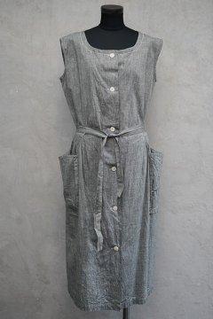cir.1940's gray N/SL work dress