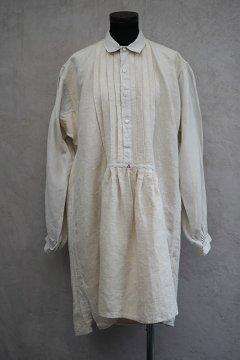 early 20th c. linen × hemp shirt