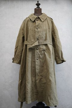 1940's-1950's M35 linen motorcycle coat with liner size2 washed