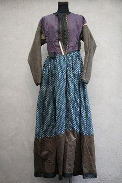19th c. black silk dress